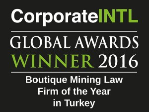 2016 - Boutique Mining Law Firm of the Year in Turkey