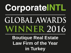 2016 Global Awards - Boutique Real Estate Law Firm of the Year in Turkey